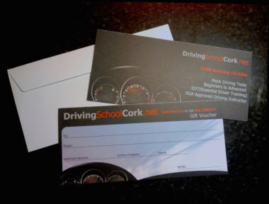 Driving School cork gift voucher lessons